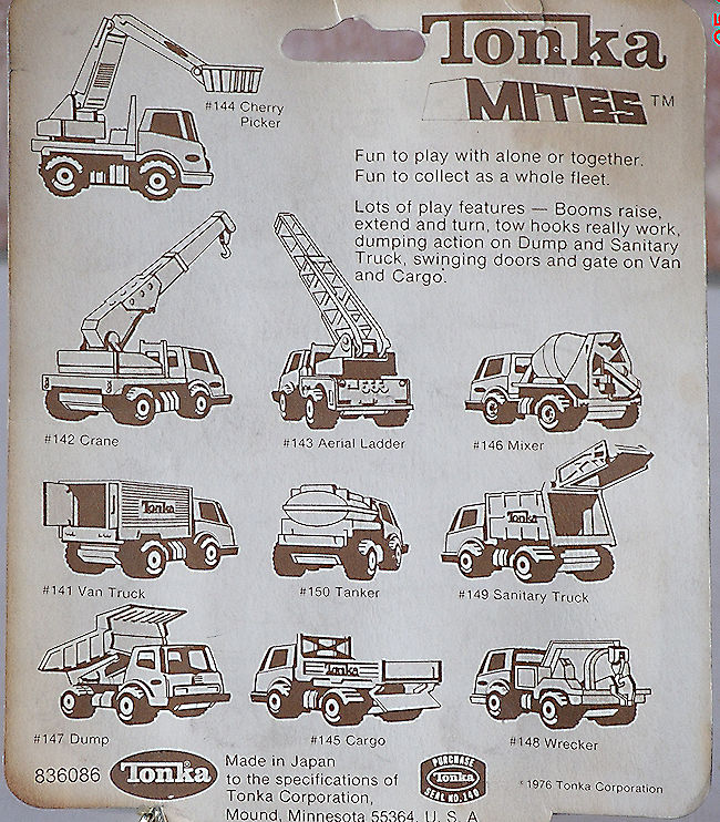 1977 Tonka Mites Model 145 Cargo Truck In Blister #062