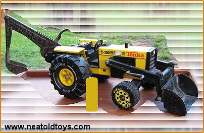 Tonka New Zealand Tractor with Backhoe and  Loader Attachments